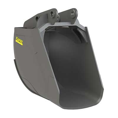 "44b7b8d1ab HCRB – High Capacity Round Bottom buckets are for sewer or pipe work. The  radius shape of the cutting edge slices through the soil easier than  typical "" ..."